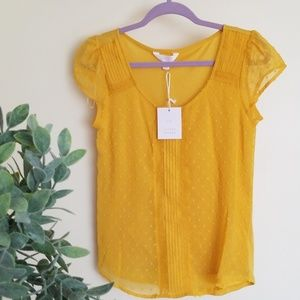 Laurel conrad blouse shirt  Extra small mustard